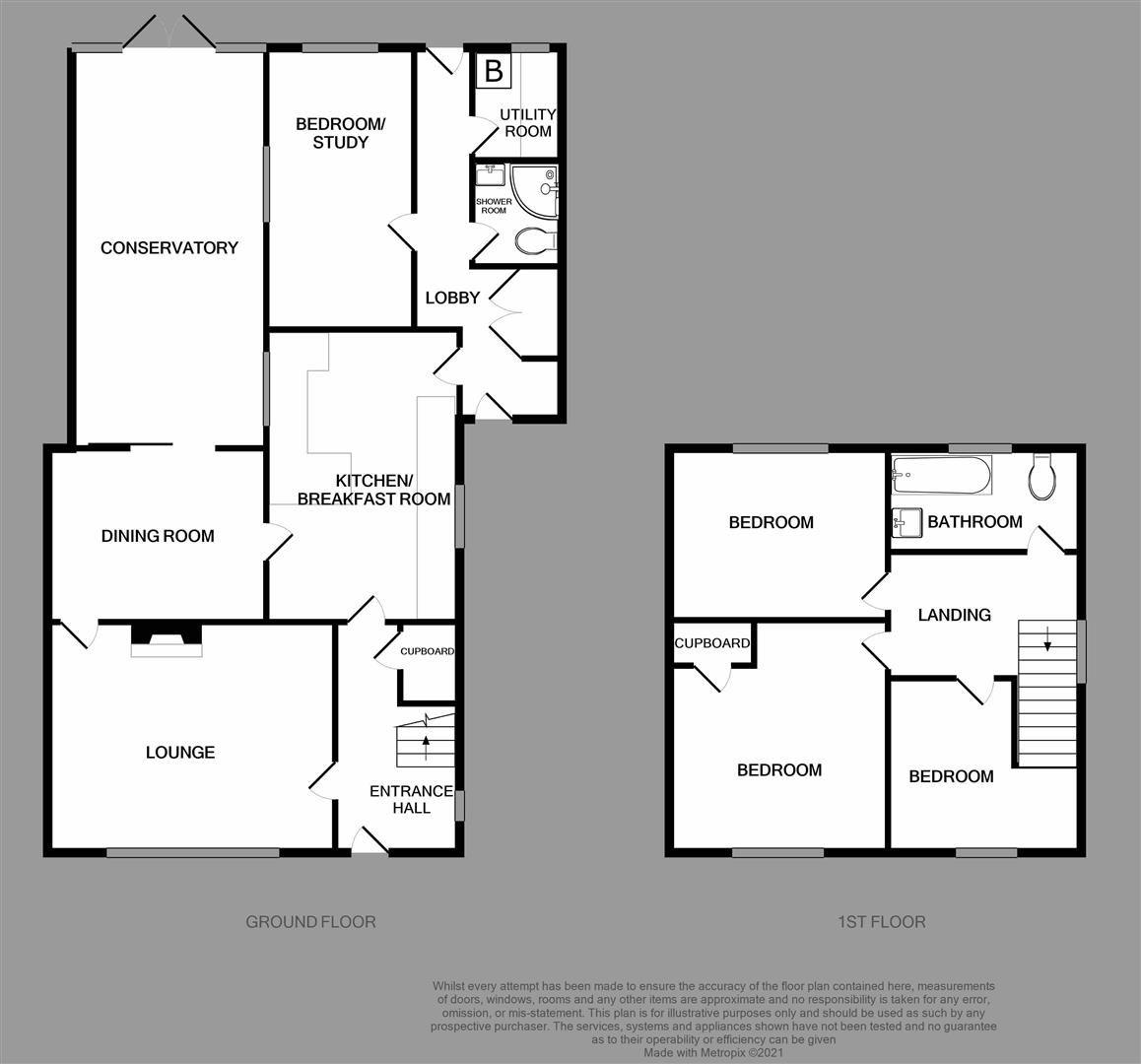 3 bed semi-detached for sale in Hagley - Property Floorplan