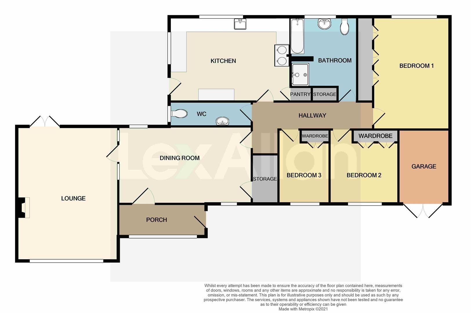 3 bed detached-bungalow for sale - Property Floorplan