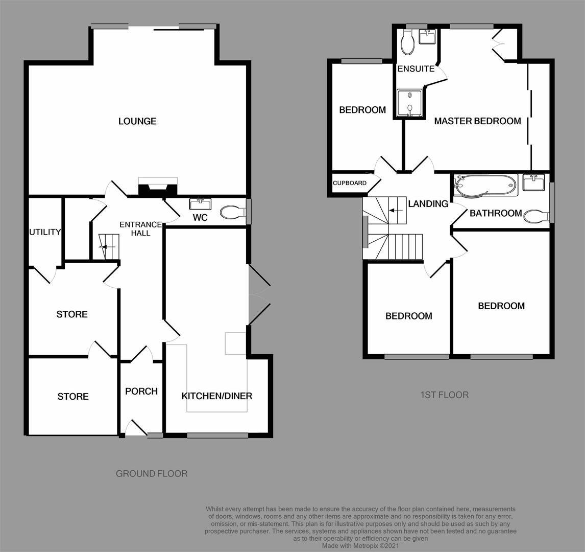 4 bed link-detached-house for sale in Hagley - Property Floorplan