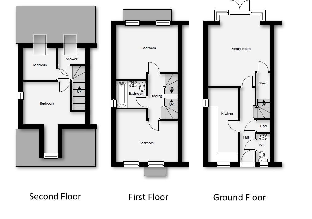 4 bed end-of-terrace for sale - Property Floorplan