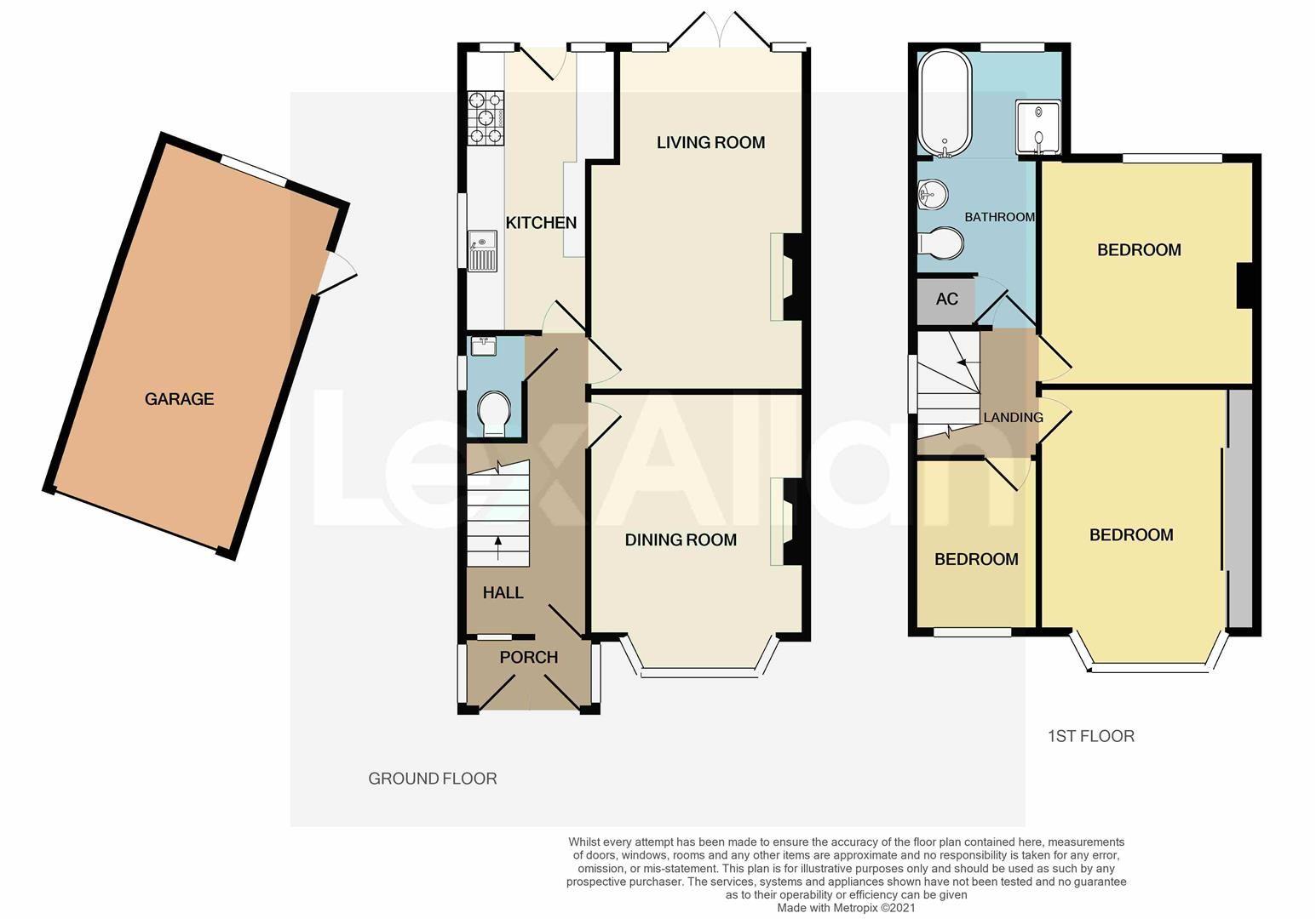 3 bed semi-detached for sale in Norton - Property Floorplan