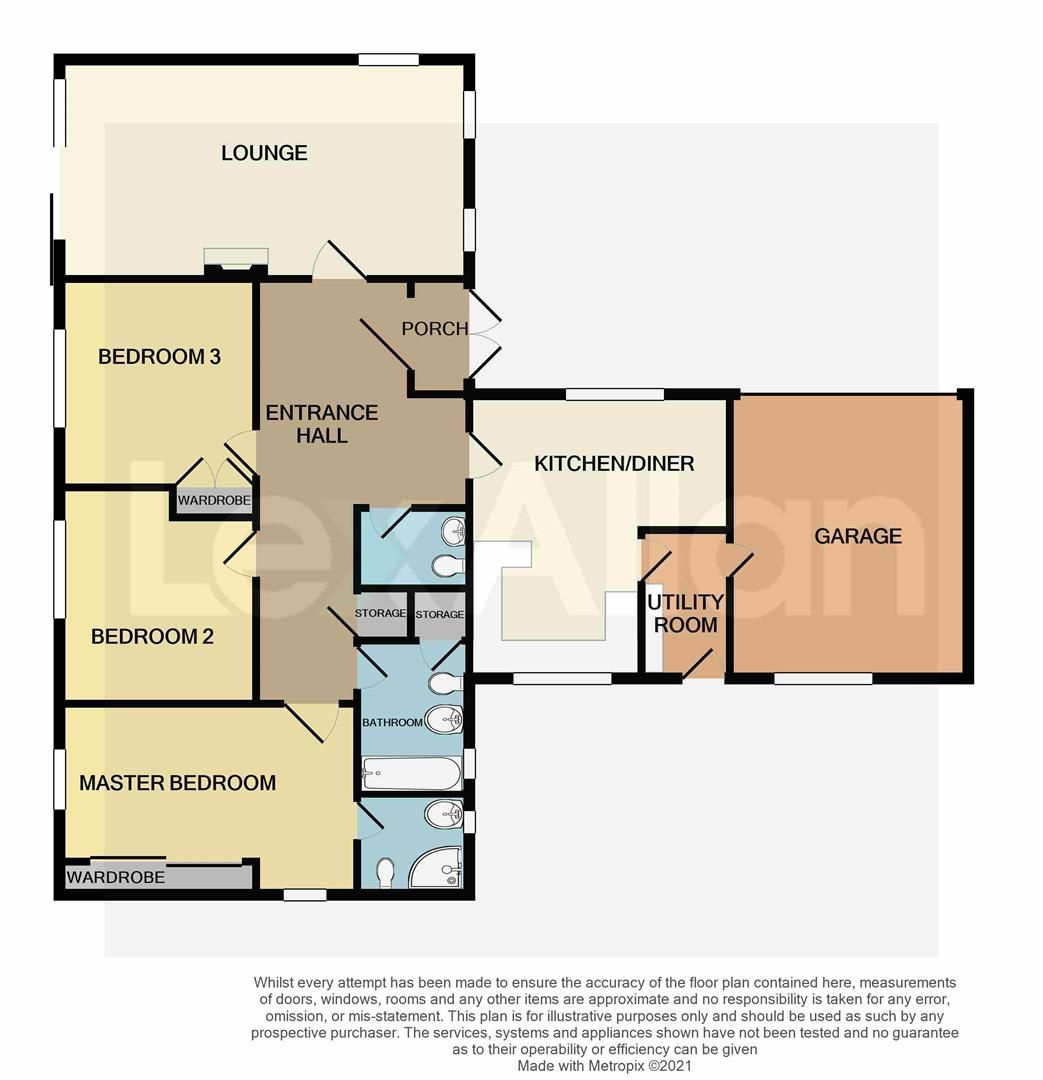 3 bed detached-bungalow for sale in Kinver - Property Floorplan