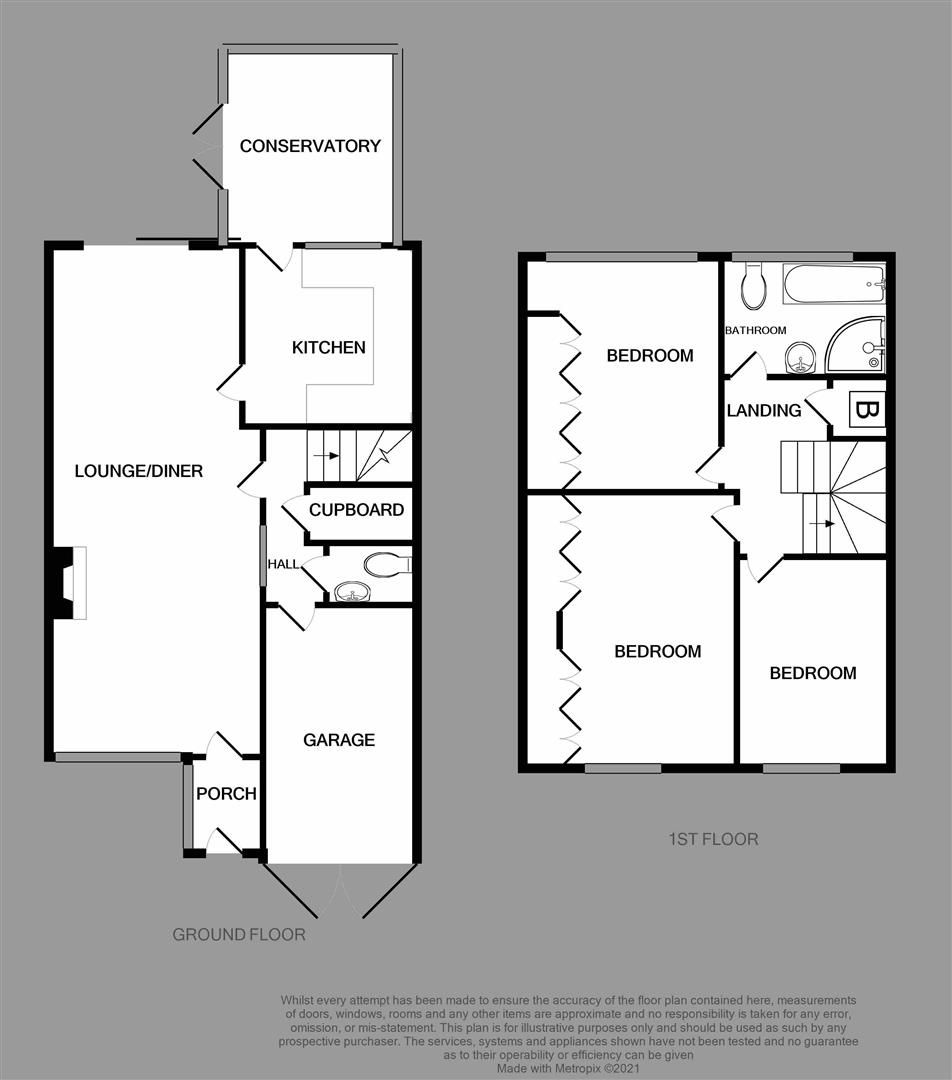 3 bed house for sale in Hagley - Property Floorplan