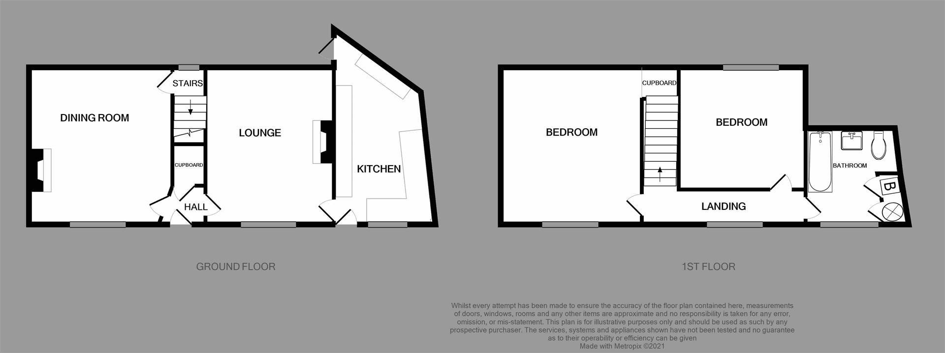 2 bed detached for sale - Property Floorplan