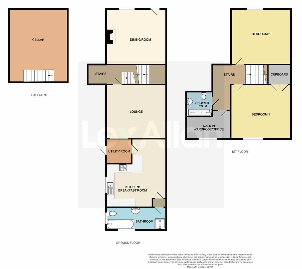 2 bed terraced for sale in Oldswinford - Property Floorplan