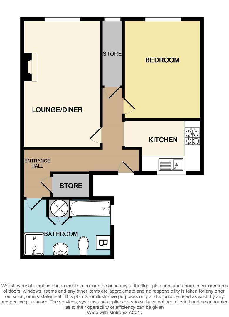 1 bed flat for sale - Property Floorplan