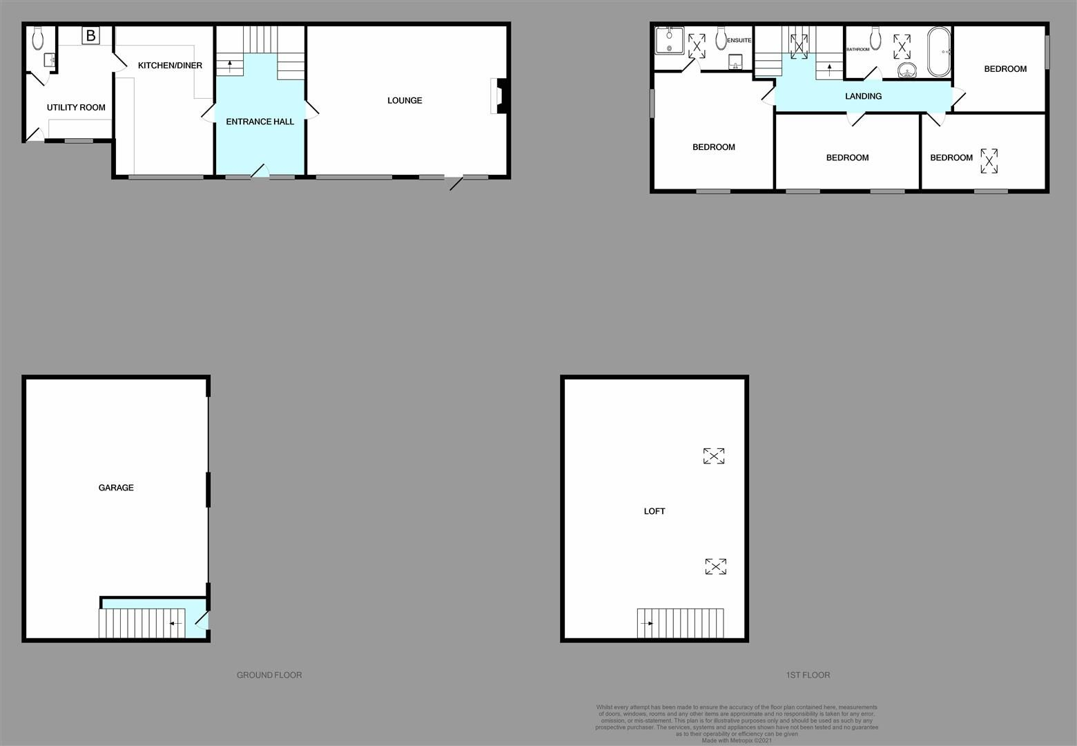 4 bed barn-conversion for sale in Wolverley - Property Floorplan