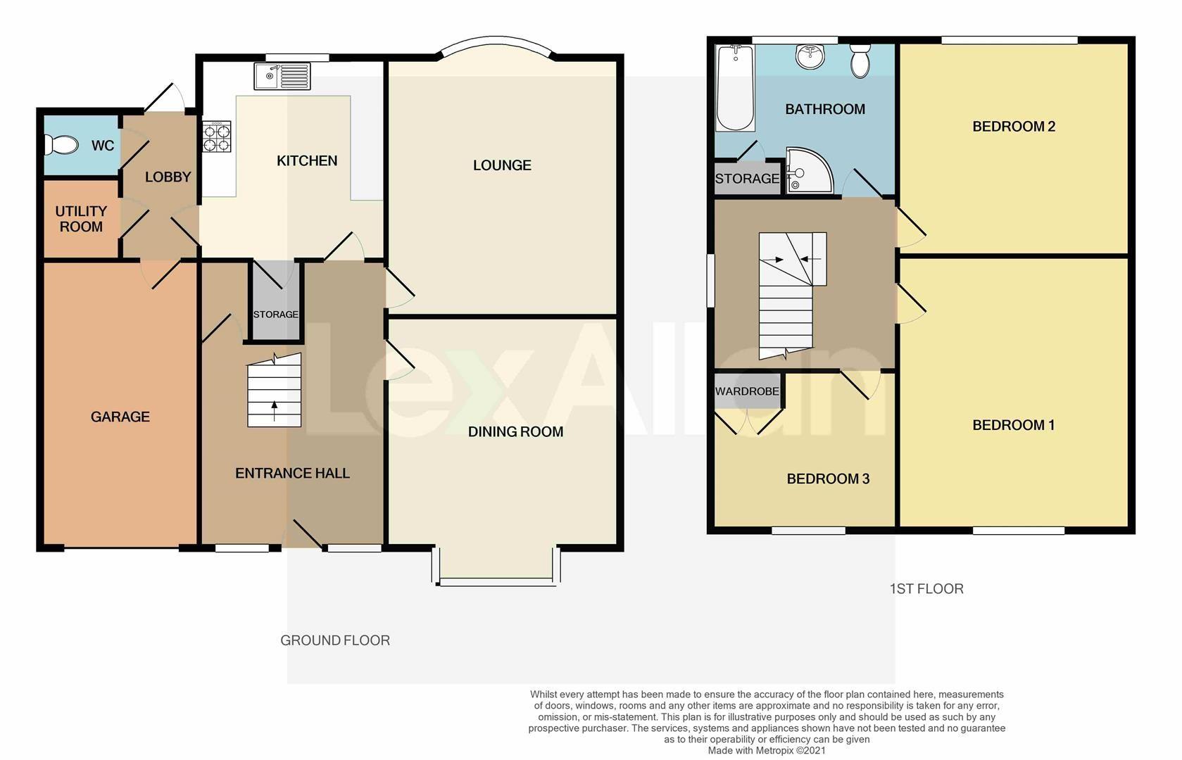 3 bed detached for sale in Pedmore - Property Floorplan