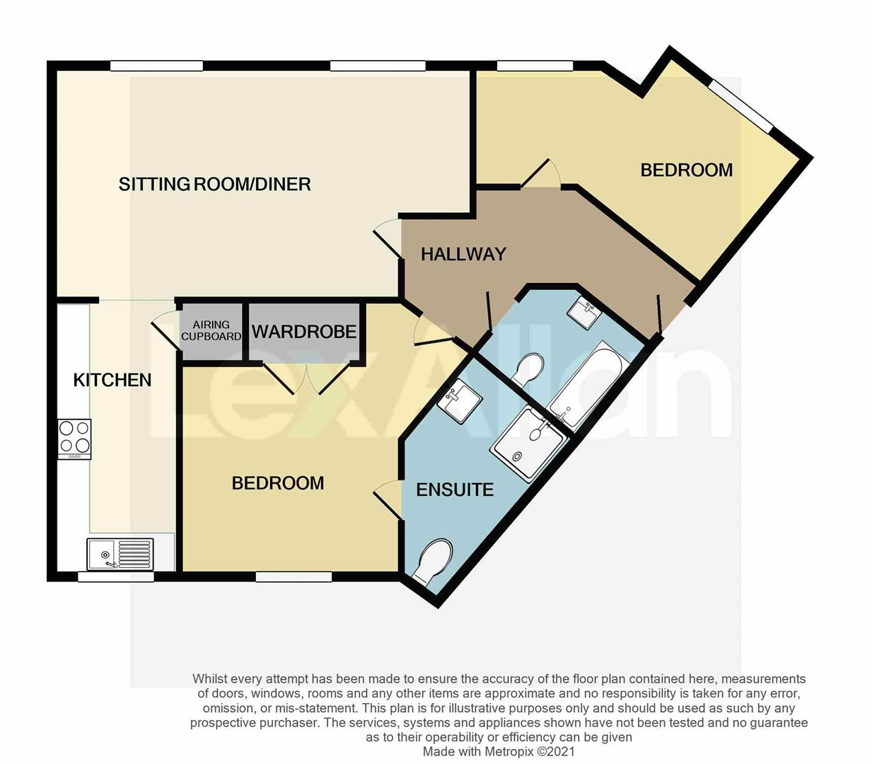 2 bed apartment for sale in Amblecote - Property Floorplan