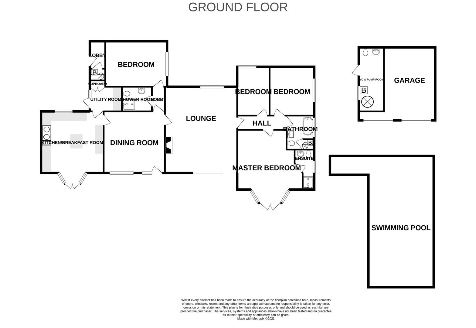 4 bed detached-bungalow for sale in Romsley - Property Floorplan