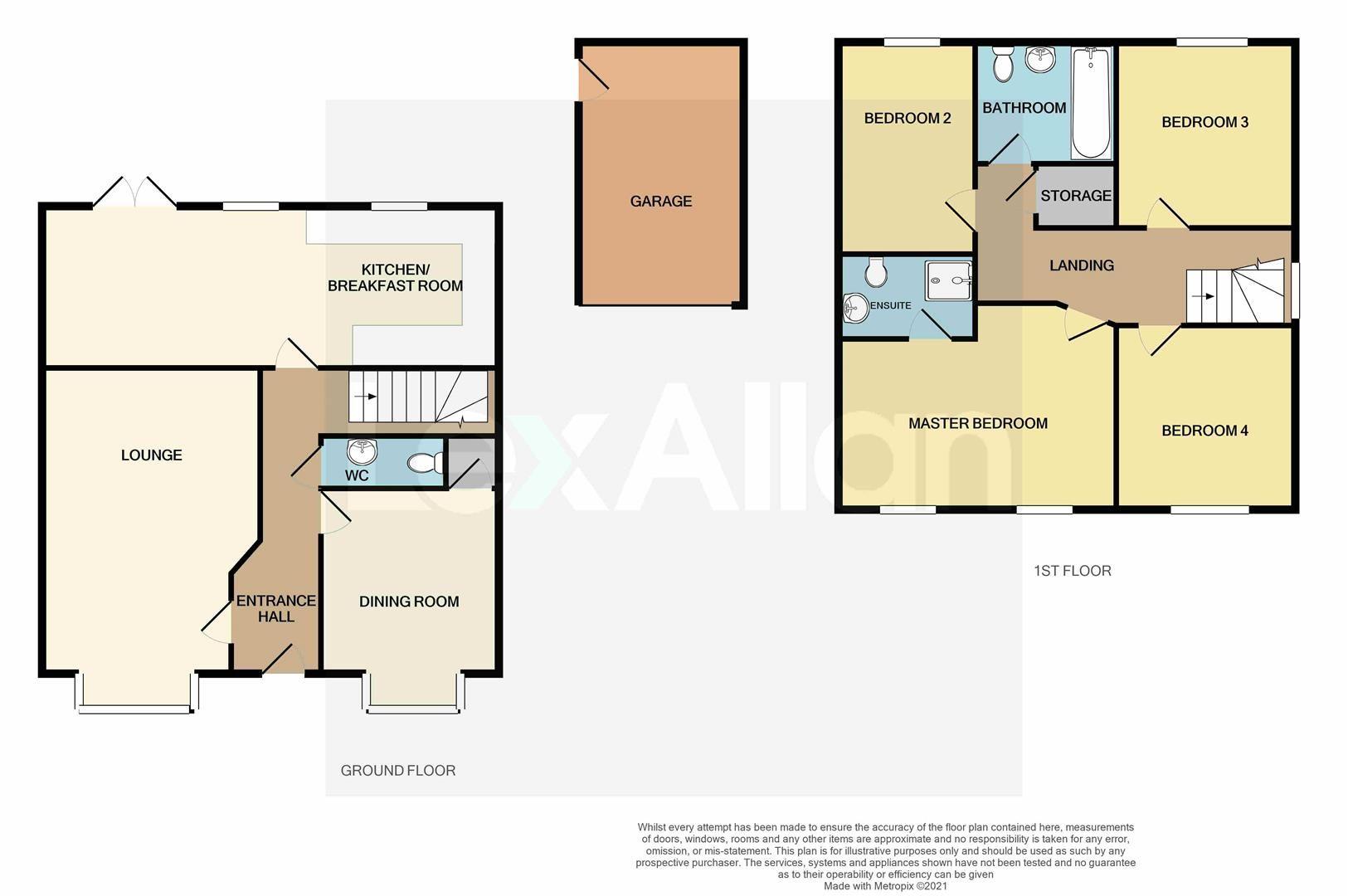4 bed detached for sale - Property Floorplan