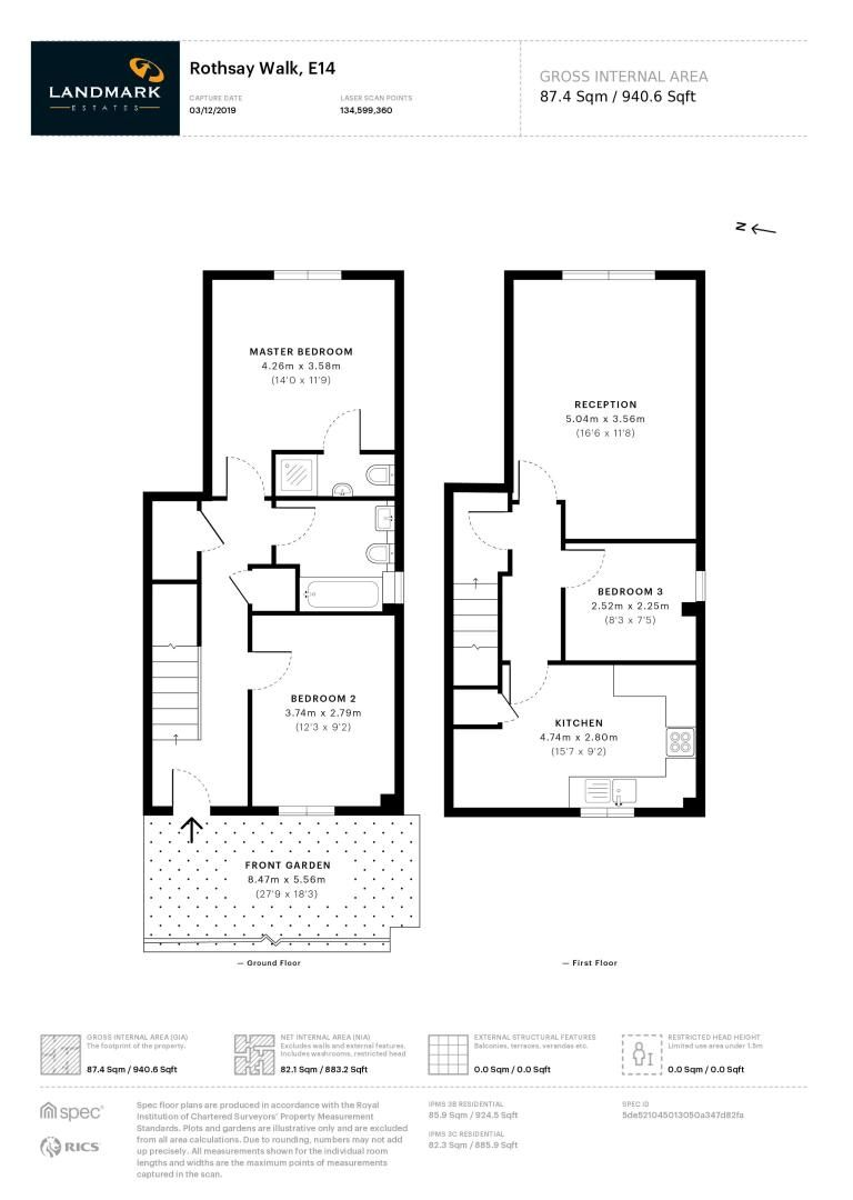 3 bed flat for sale in Rothsay Walk - Property Floorplan