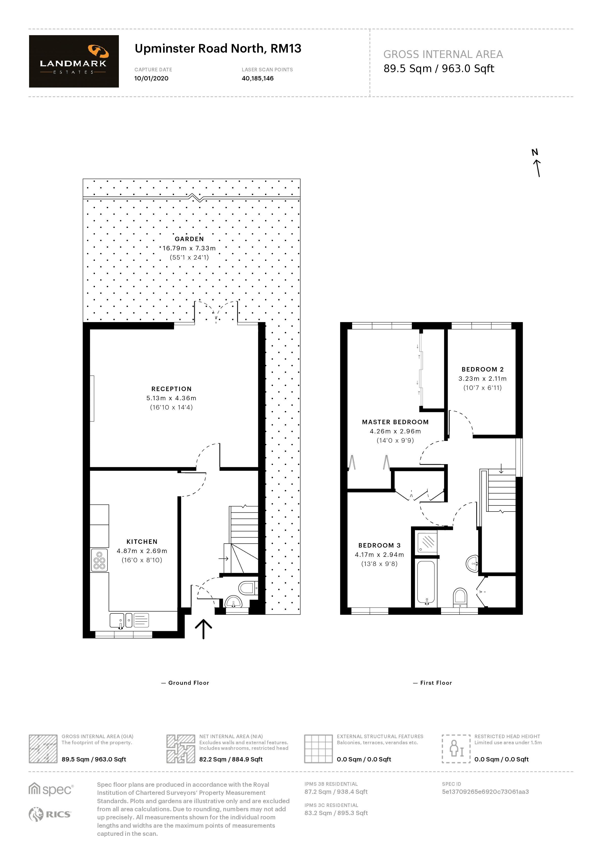 3 bed house for sale in Upminster Road North - Property Floorplan