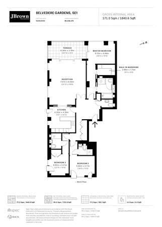 3 bed flat to rent in 5 Belvedere Gardens - Property Floorplan