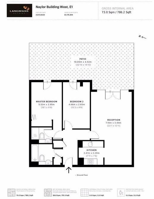 2 bed flat for sale in Naylor Building West - Property Floorplan