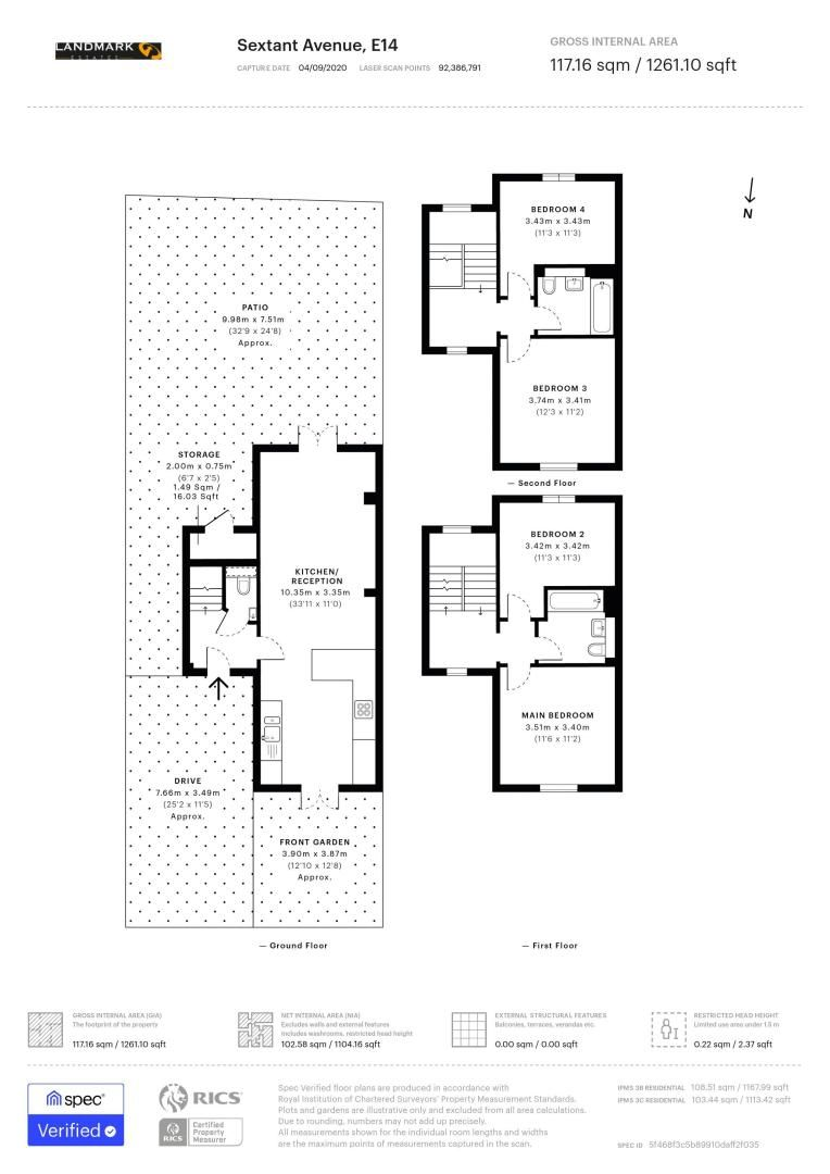 4 bed house for sale in Sextant Avenue - Property Floorplan