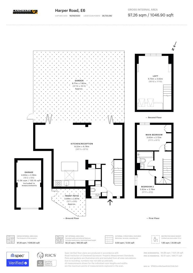 3 bed house for sale in Harper Road - Property Floorplan
