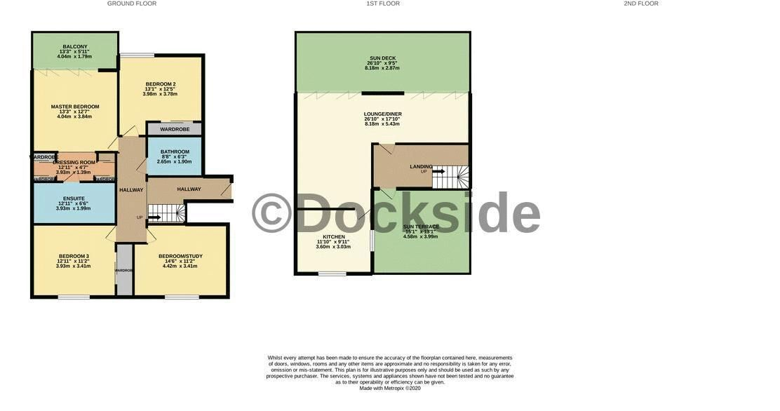 4 bed flat for sale in The Hamptons - Property Floorplan