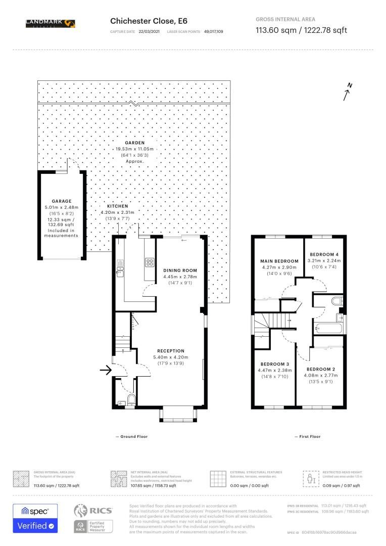 4 bed house for sale in Chichester Close - Property Floorplan