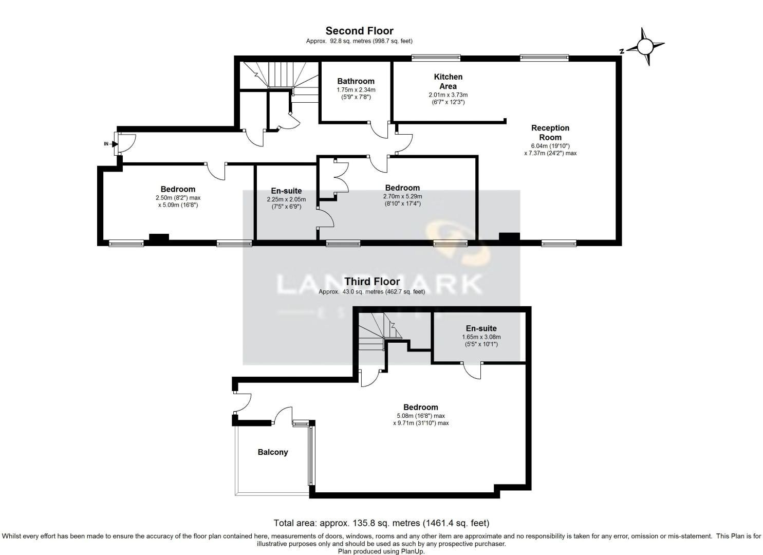 3 bed flat for sale in Western Gateway - Property Floorplan