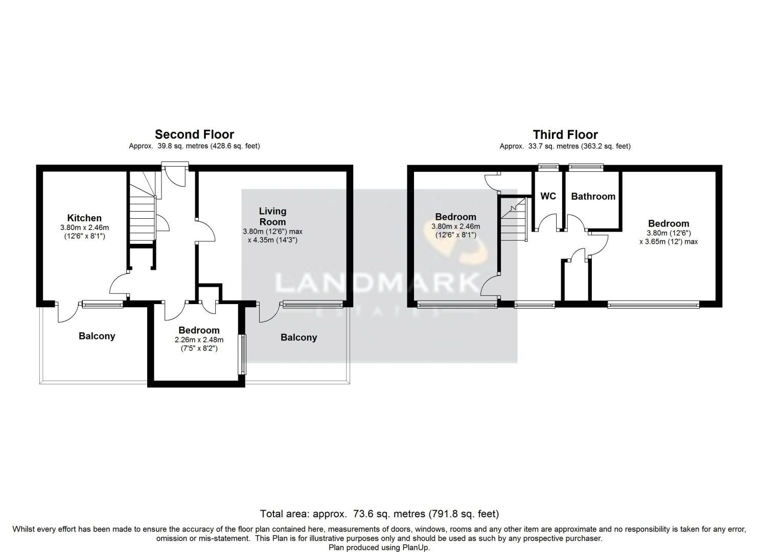 3 bed flat for sale in Galbraith Street - Property Floorplan