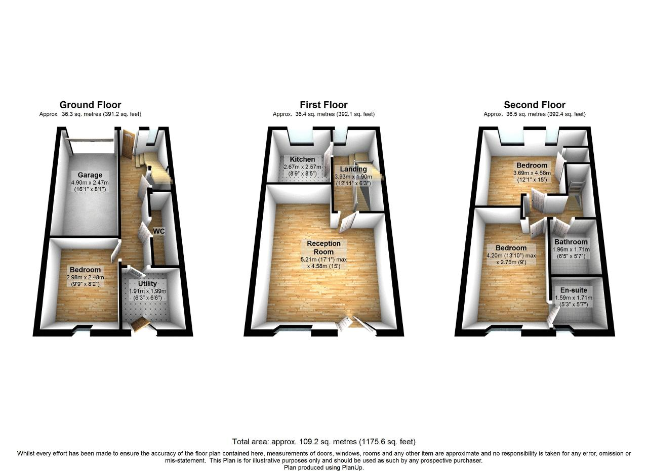 3 bed house to rent in Observatory Mews - Property Floorplan