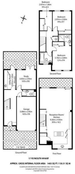 4 bed house for sale in Plymouth Wharf - Property Floorplan
