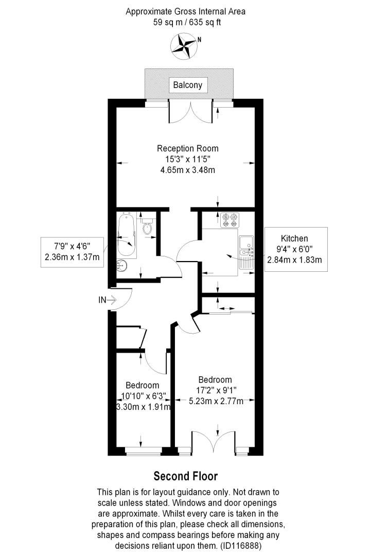 2 bed flat for sale in Burrells Wharf Square - Property Floorplan