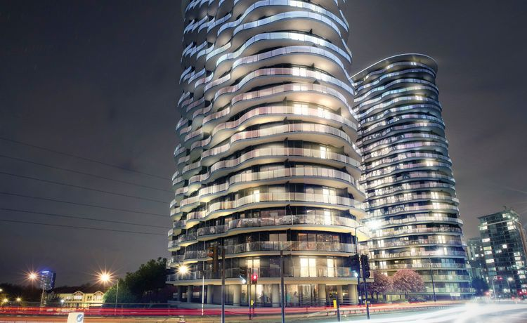 2 bed flat for sale in Hoola Tower West, E16