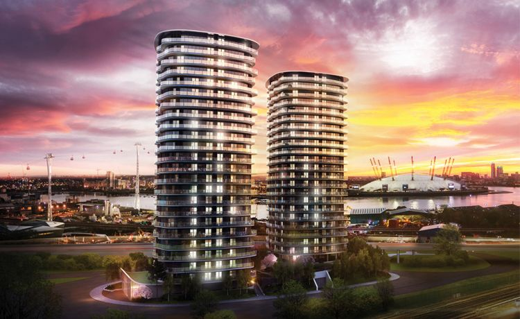 3 bed flat for sale in Hoola Tower West, E16