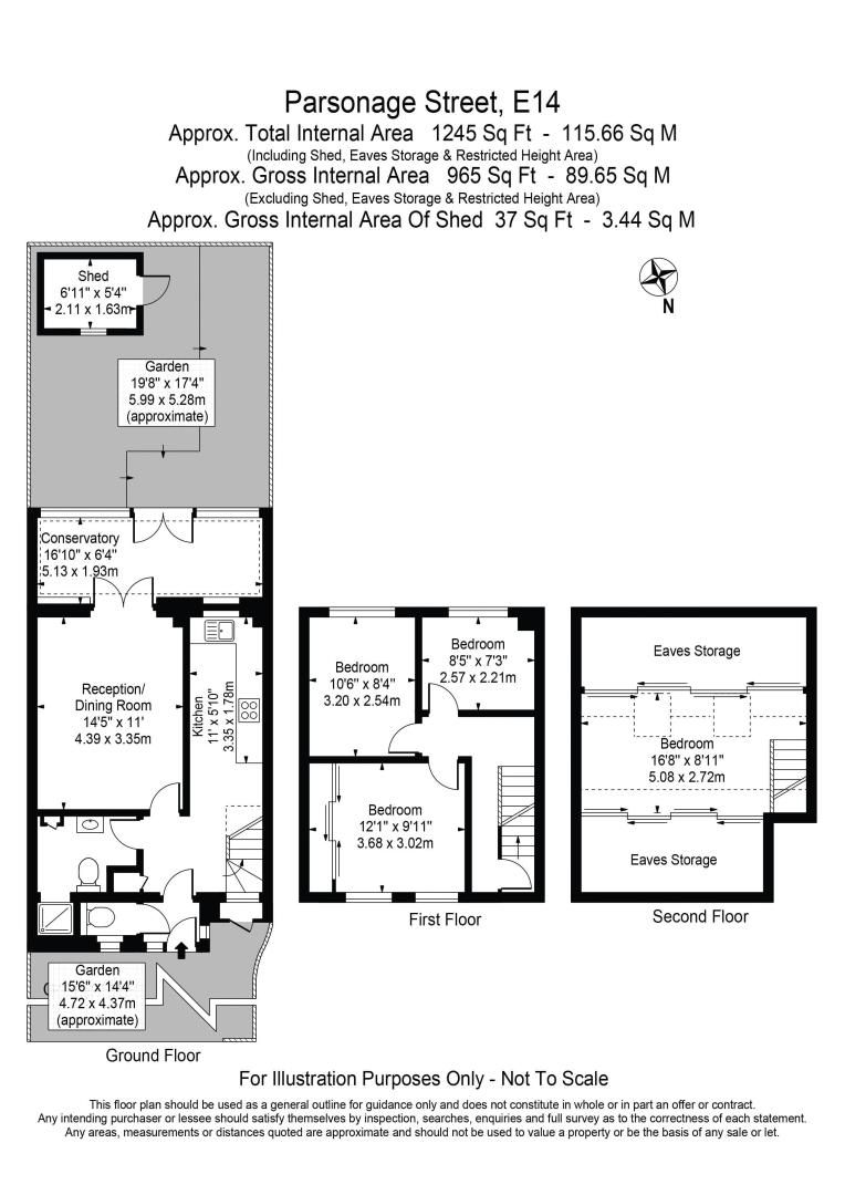 4 bed house for sale in Parsonage Street - Property Floorplan