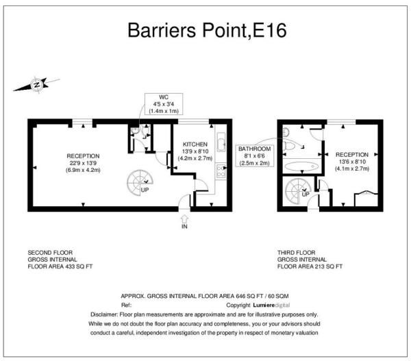 1 bed flat for sale in Barrier Point Road  - Property Image 11