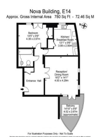 1 bed flat for sale in Nova Building - Property Floorplan