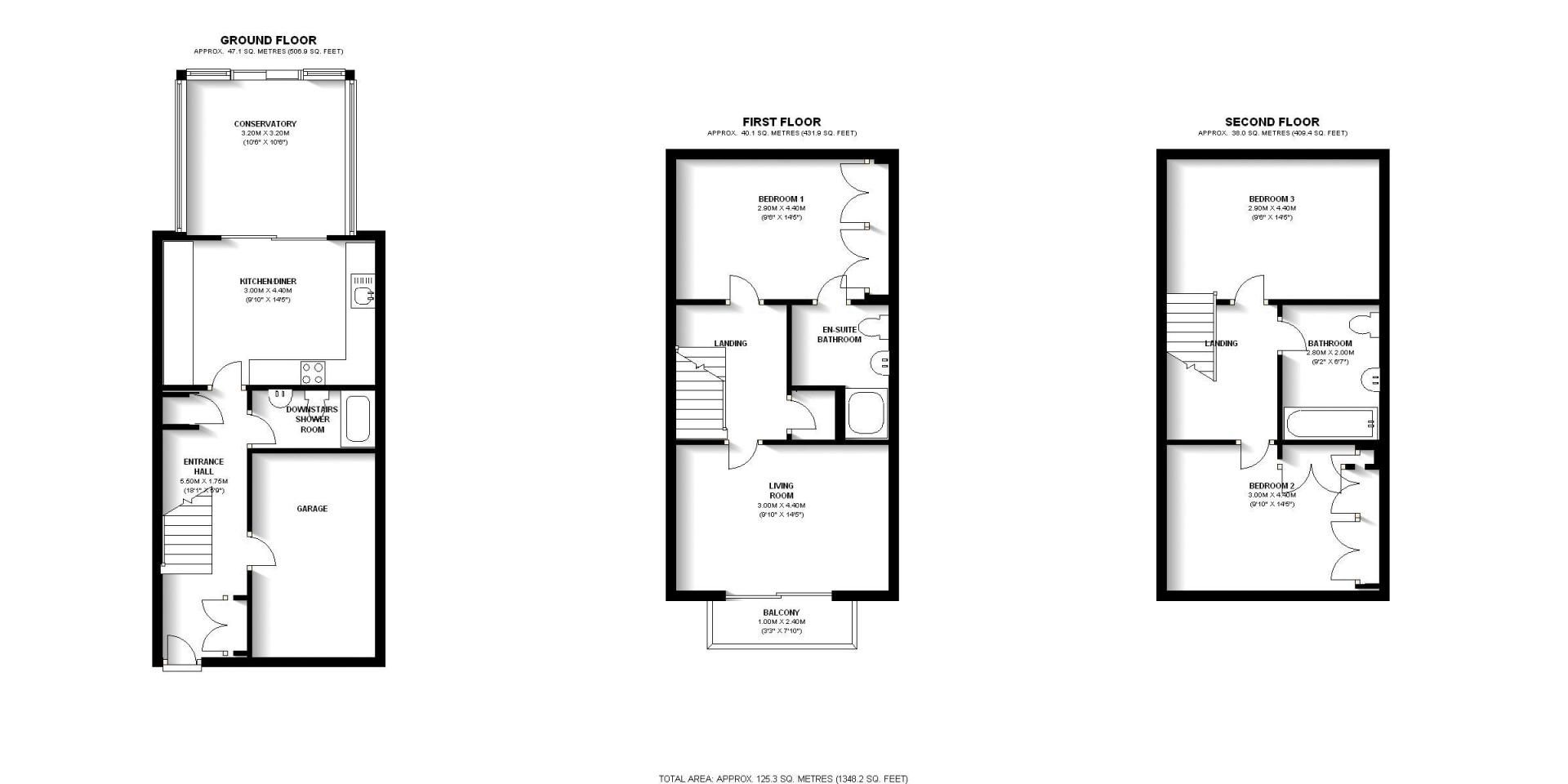 3 bed house to rent in Bering Square - Property Floorplan