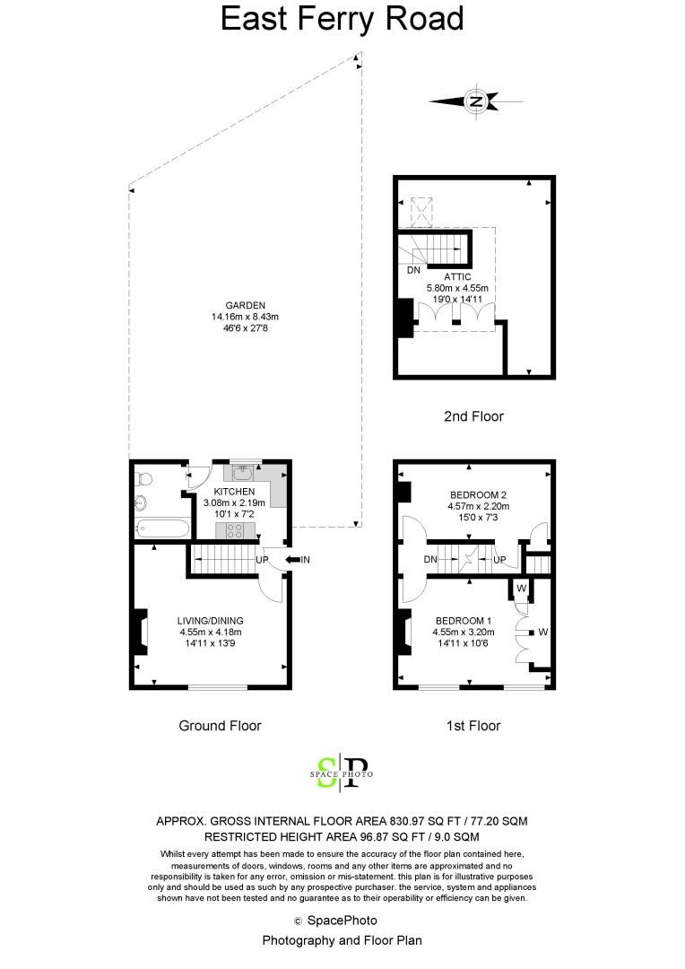 2 bed house for sale in East Ferry Road - Property Floorplan