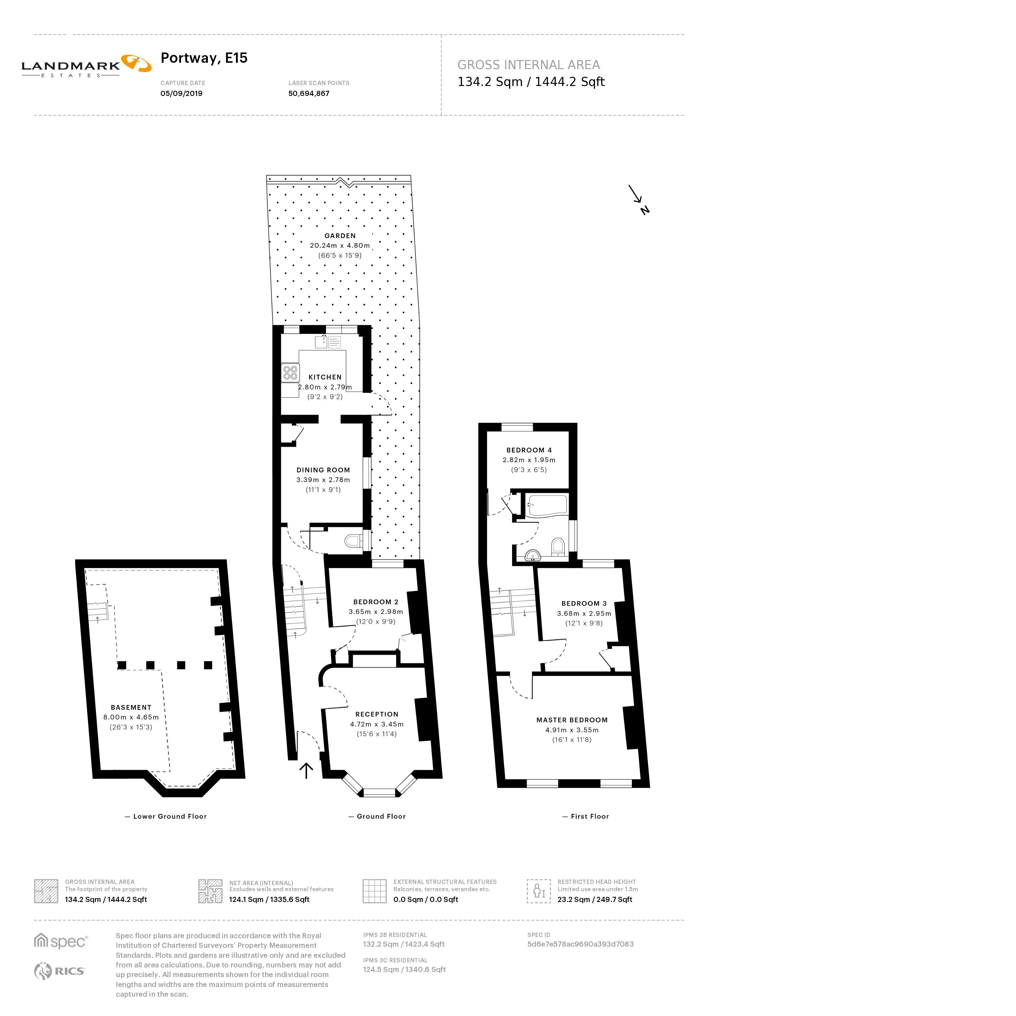 4 bed house to rent in Portway - Property Floorplan