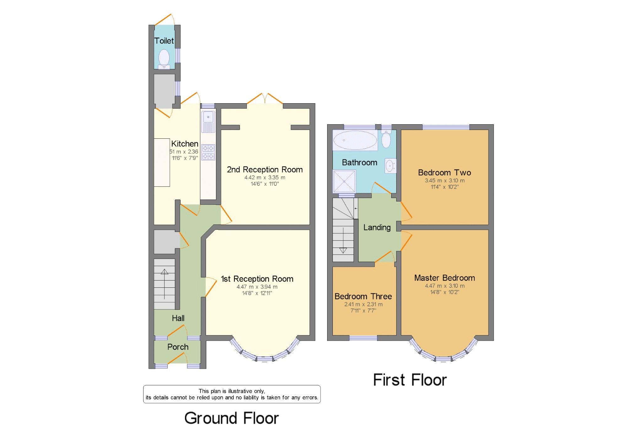 3 bed house for sale in Roy Gardens - Property Floorplan