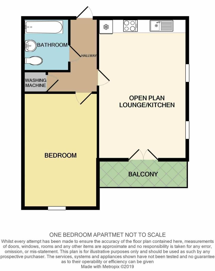 1 bed flat to rent in dunlin drive - Property Floorplan