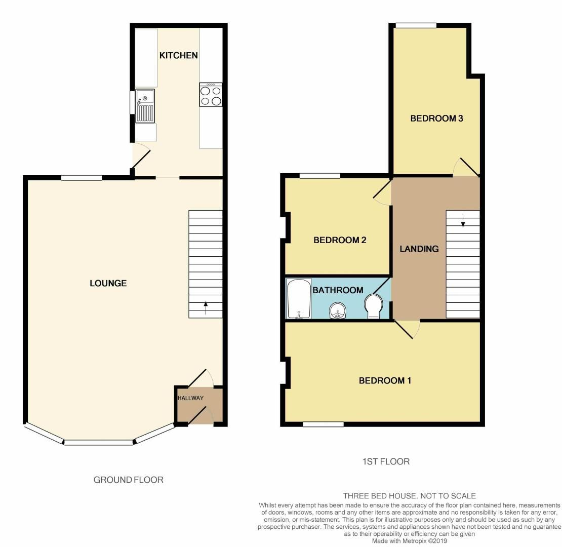 3 bed house to rent in Victoria Road - Property Floorplan