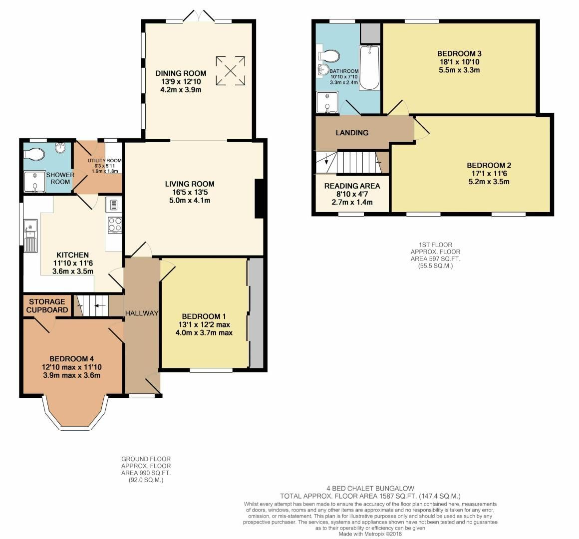 4 bed house for sale in Brompton Farm Road - Property Floorplan