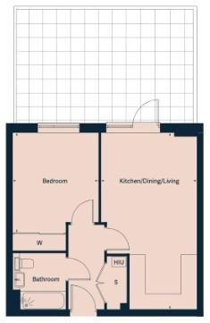 1 bed flat for sale in Ocean Drive - Property Floorplan