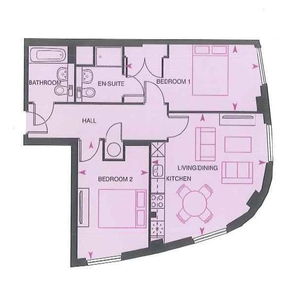 2 bed flat to rent in Dock Head Road - Property Floorplan
