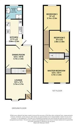 3 bed house for sale in Cornwall Road - Property Floorplan