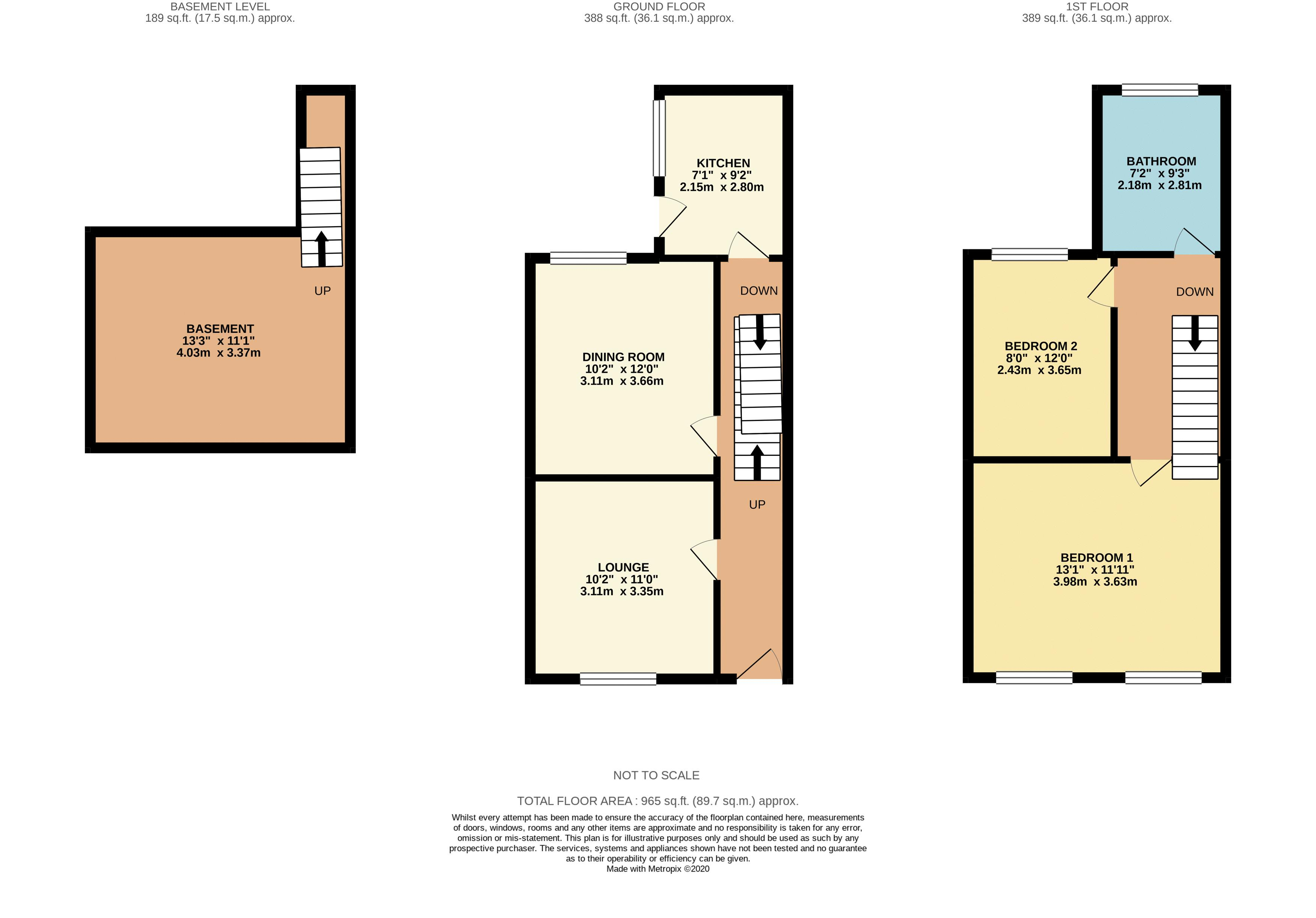 3 bed house to rent in St Bartholomews Terrace - Property Floorplan