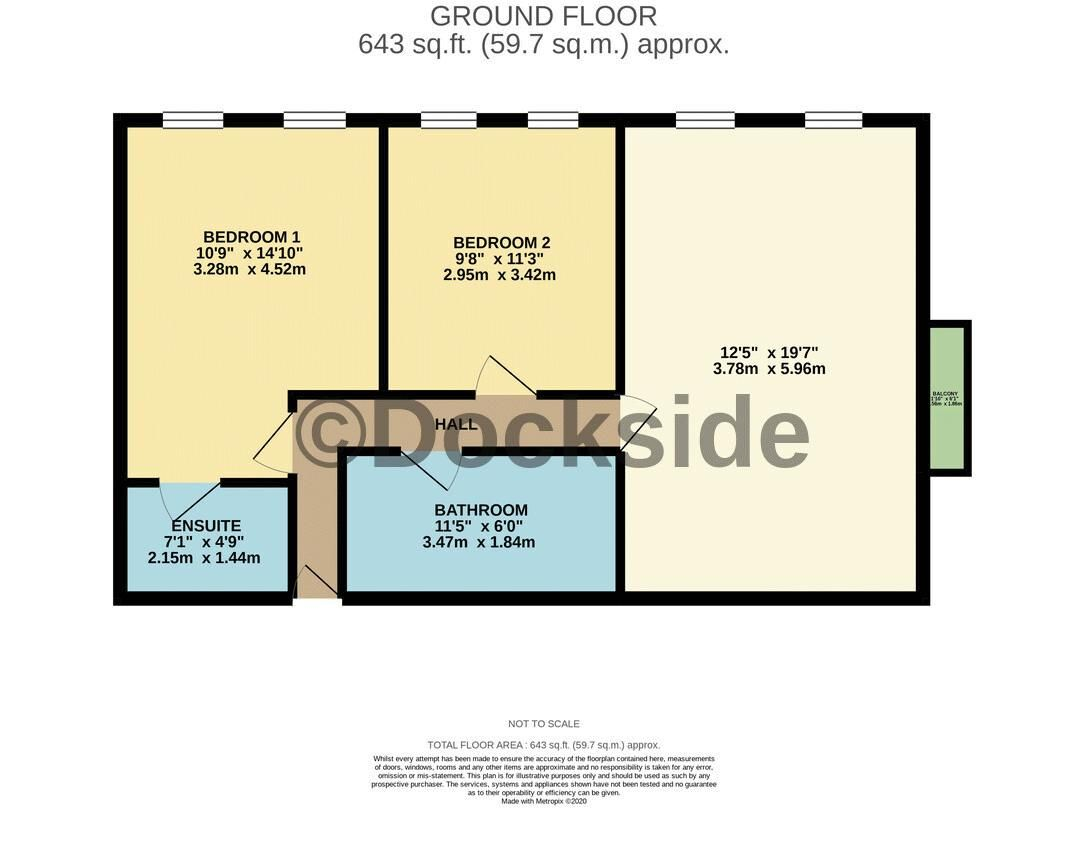 2 bed flat for sale in The Shoreway - Property Floorplan