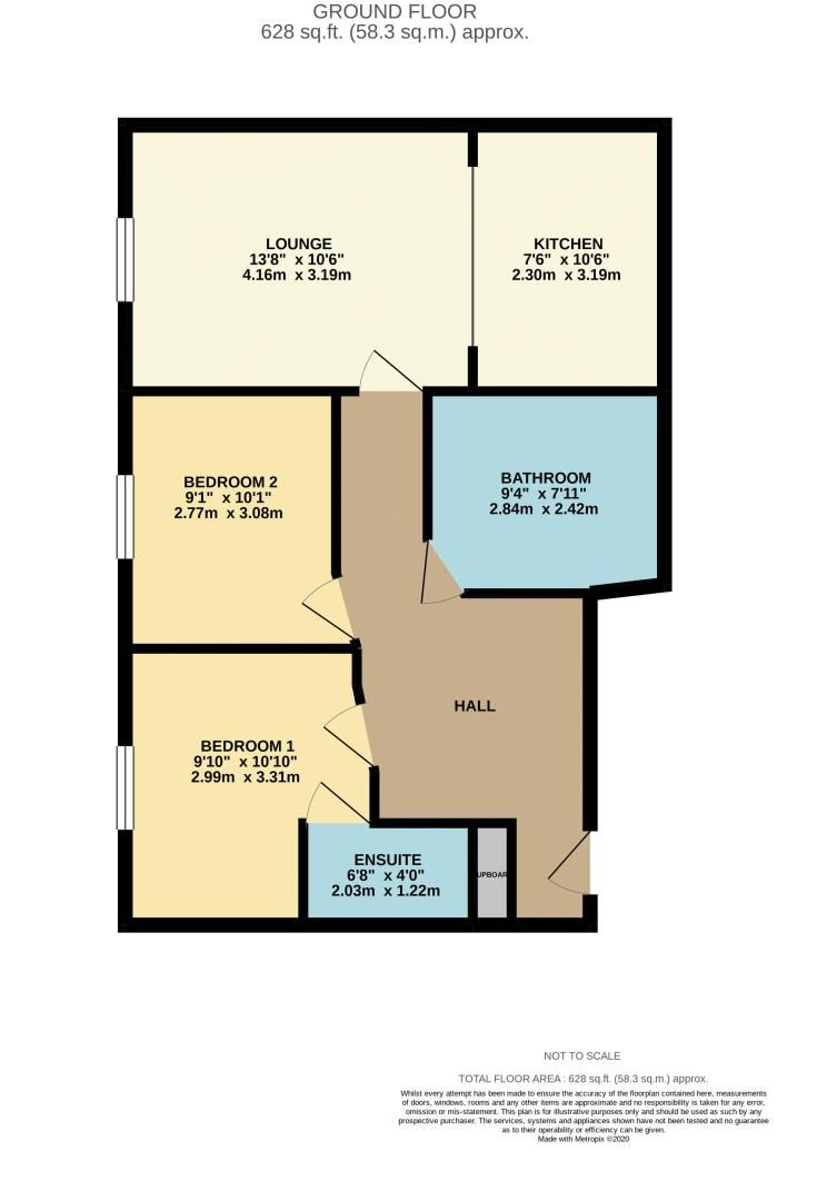 2 bed flat to rent in Watersmeet - Property Floorplan