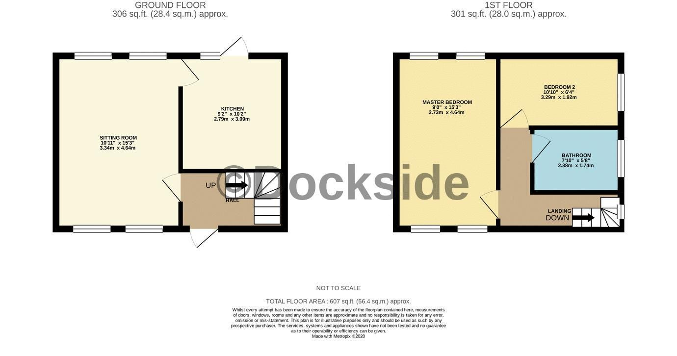 2 bed house for sale in Roffen Road - Property Floorplan