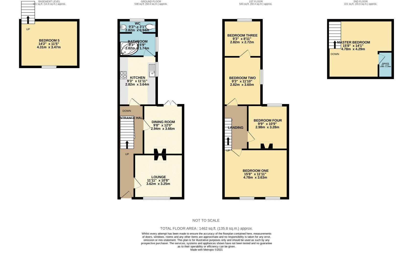 5 bed house for sale in Waterloo Road - Property Floorplan