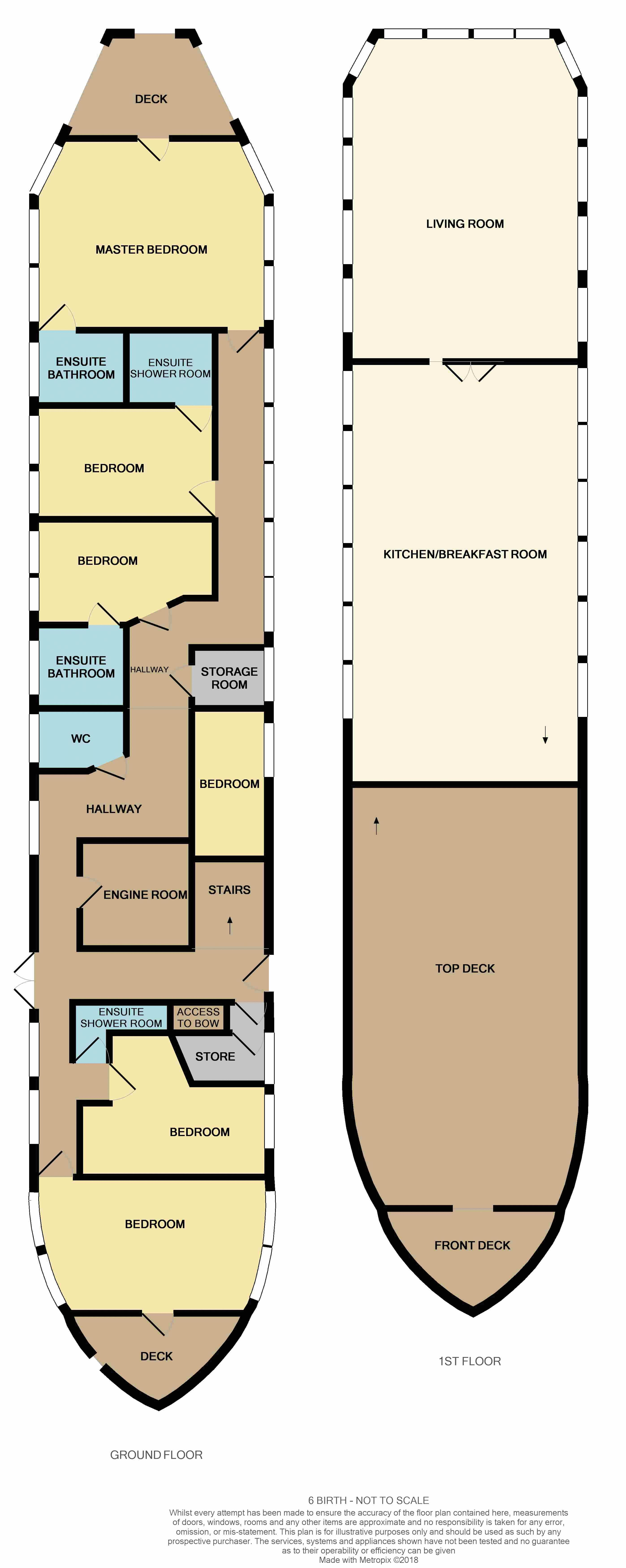 6 bed house boat for sale in Manor Lane - Property Floorplan