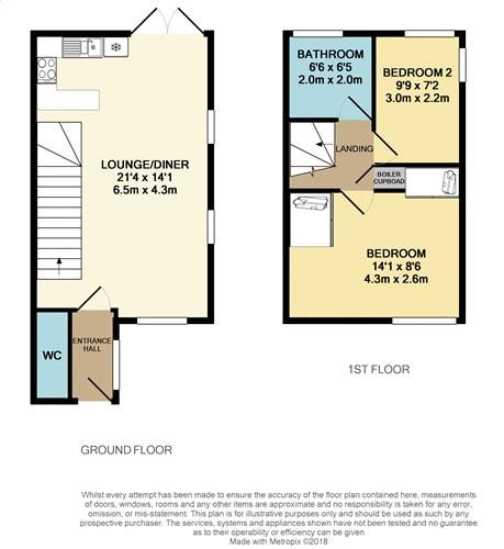 2 bed house for sale in Aster Drive - Property Floorplan